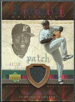 2007 Upper Deck Artifacts Antiquity Artifacts Patch #DW Dontrelle Willis /50