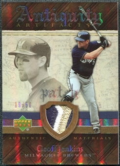 2007 Upper Deck Artifacts Antiquity Artifacts Patch #GJ Geoff Jenkins /50