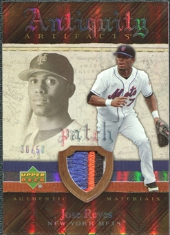 2007 Upper Deck Artifacts Antiquity Artifacts Patch #RE Jose Reyes /50