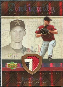 2007 Upper Deck Artifacts Antiquity Artifacts Patch #RO Roy Oswalt /50