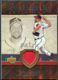 2007 Upper Deck Artifacts Antiquity Artifacts Patch #SM John Smoltz /50