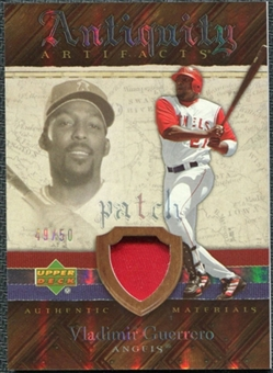 2007 Upper Deck Artifacts Antiquity Artifacts Patch #VG Vladimir Guerrero /50