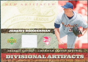 2007 Upper Deck Artifacts Divisional Artifacts #BO Jeremy Bonderman /199