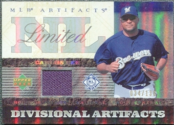 2007 Upper Deck Artifacts Divisional Artifacts Limited #CL Carlos Lee /130