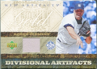 2007 Upper Deck Artifacts Divisional Artifacts Gold #RC Roger Clemens