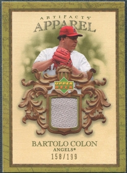 2007 Upper Deck Artifacts MLB Apparel #BC Bartolo Colon /199