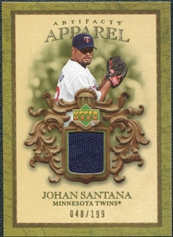 2007 Upper Deck Artifacts MLB Apparel #SA Johan Santana /199