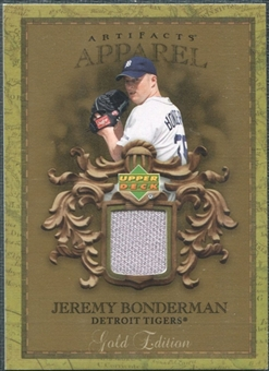 2007 Upper Deck Artifacts MLB Apparel Gold #BO Jeremy Bonderman