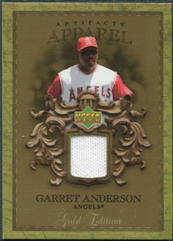 2007 Upper Deck Artifacts MLB Apparel Gold #GA Garret Anderson