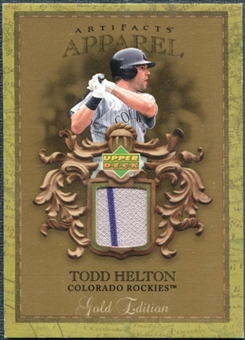 2007 Upper Deck Artifacts MLB Apparel Gold #HE Todd Helton