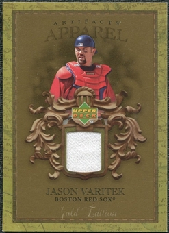 2007 Upper Deck Artifacts MLB Apparel Gold #VA Jason Varitek