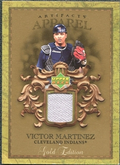 2007 Upper Deck Artifacts MLB Apparel Gold #VM Victor Martinez