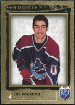 2006/07 Upper Deck Be A Player #203 Luc Bourdon RC /999