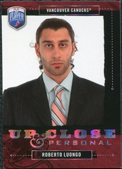 2006/07 Upper Deck Be A Player Up Close and Personal #UC48 Roberto Luongo /999