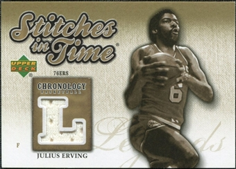 2006/07 Upper Deck Chronology Stitches in Time #SITJE Julius Erving /199