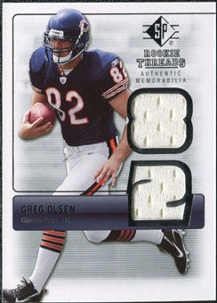 2007 Upper Deck SP Rookie Threads Silver #RTGO Greg Olsen