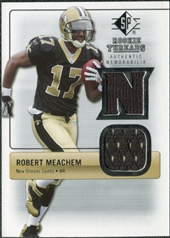 2007 Upper Deck SP Rookie Threads Silver #RTRM Robert Meachem