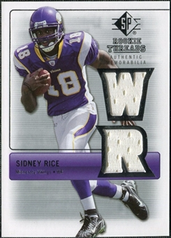 2007 Upper Deck SP Rookie Threads Silver #RTSR Sidney Rice