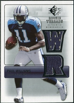 2007 Upper Deck SP Rookie Threads Silver #RTWI Paul Williams
