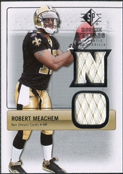 2007 Upper Deck SP Rookie Threads Silver #RTRM2 Robert Meachem