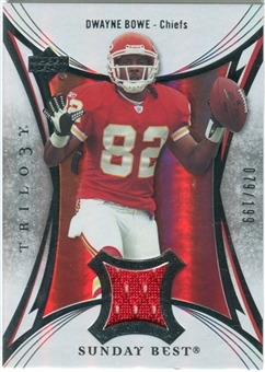 2007 Upper Deck Trilogy Sunday Best Jersey Silver #DB Dwayne Bowe /199