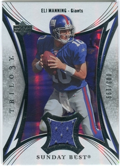 2007 Upper Deck Trilogy Sunday Best Jersey Silver #EM Eli Manning /199