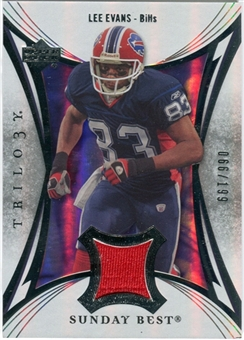 2007 Upper Deck Trilogy Sunday Best Jersey Silver #LE Lee Evans /199