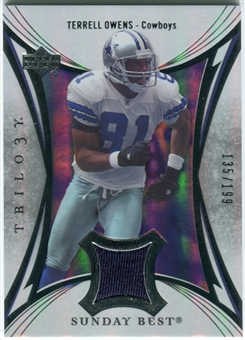2007 Upper Deck Trilogy Sunday Best Jersey Silver #TO Terrell Owens /199