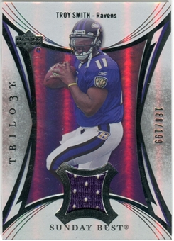 2007 Upper Deck Trilogy Sunday Best Jersey Silver #TS Troy Smith /199