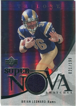 2007 Upper Deck Trilogy Supernova Swatches Silver #BL Brian Leonard /199