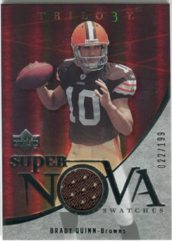 2007 Upper Deck Trilogy Supernova Swatches Silver #BQ Brady Quinn /199