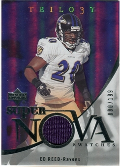 2007 Upper Deck Trilogy Supernova Swatches Silver #ER Ed Reed /199