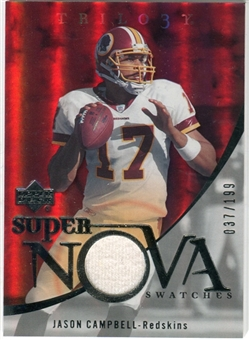 2007 Upper Deck Trilogy Supernova Swatches Silver #JC Jason Campbell /199