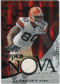 2007 Upper Deck Trilogy Supernova Swatches Silver #KW Kellen Winslow /199