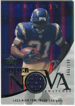 2007 Upper Deck Trilogy Supernova Swatches Silver #LT LaDainian Tomlinson /199