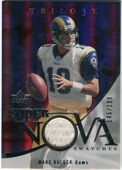 2007 Upper Deck Trilogy Supernova Swatches Silver #MB Marc Bulger /199