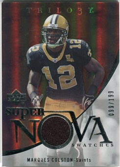 2007 Upper Deck Trilogy Supernova Swatches Silver #MC Marques Colston /199