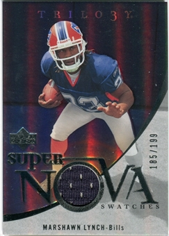 2007 Upper Deck Trilogy Supernova Swatches Silver #ML Marshawn Lynch /199