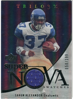 2007 Upper Deck Trilogy Supernova Swatches Silver #SA Shaun Alexander /199