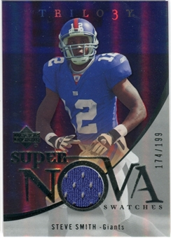 2007 Upper Deck Trilogy Supernova Swatches Silver #SS Steve Smith USC /199