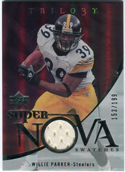 2007 Upper Deck Trilogy Supernova Swatches Silver #WP Willie Parker /199