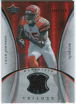 2007 Upper Deck Trilogy Materials Silver #CJ Chad Johnson /199