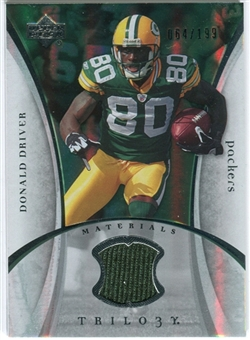 2007 Upper Deck Trilogy Materials Silver #DD Donald Driver /199
