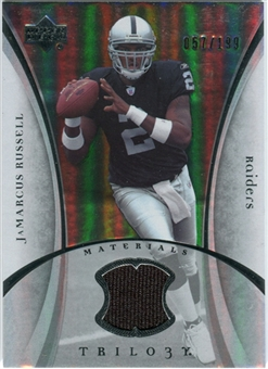 2007 Upper Deck Trilogy Materials Silver #JR JaMarcus Russell /199
