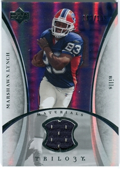 2007 Upper Deck Trilogy Materials Silver #ML Marshawn Lynch /199
