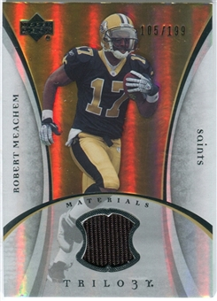 2007 Upper Deck Trilogy Materials Silver #RM Robert Meachem /199