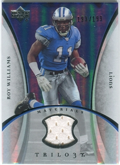 2007 Upper Deck Trilogy Materials Silver #RW Roy Williams WR /199