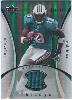 2007 Upper Deck Trilogy Materials Silver #TG Ted Ginn Jr. /199