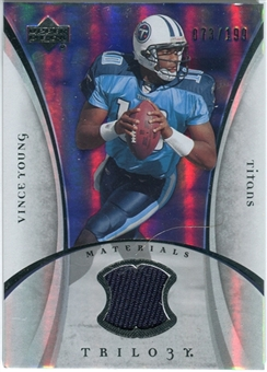2007 Upper Deck Trilogy Materials Silver #VY Vince Young /199