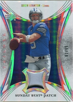 2007 Upper Deck Trilogy Sunday Best Jersey Patch #DS Drew Stanton /79